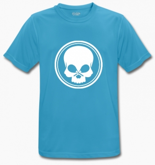 BLACK SKULL - T-Shirt - BeCool - blau