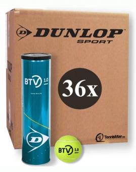 Tennisbälle - Dunlop BTV 1.0 - 36 x 4er Dose