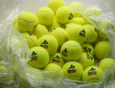 Tennisbälle - DISCHO TRAINER (DELUXE) - 72 Bälle im Polybag - gelb