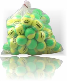 Tennisbälle - DISCHO Funny Tour - Methodik - Stage 1 - gelb/grün - 60 Bälle im Polybag