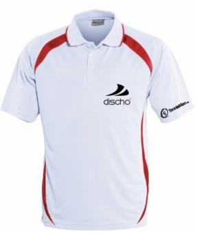 Discho Tennis Polo-Shirt Fancy - weiss/rot