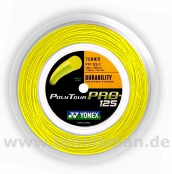 Tennissaite - Yonex Poly Tour Pro gelb - 200m