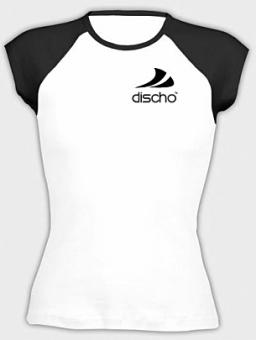 Discho Cap Sleeve Top weiss/schwarz