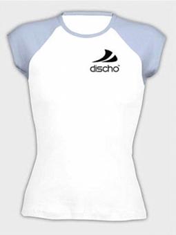 Discho Cap Sleeve Top weiss/hellblau