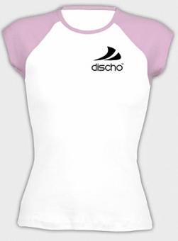 Discho Cap Sleeve Top weiss/pink