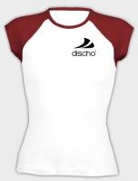 Discho Cap Sleeve Top weiss/rot