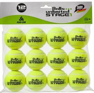 Tennisbälle - Balls Unlimited Stage 1 gelb/gelb 12er Beutel