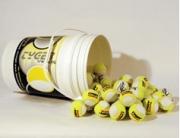 Tennisbälle Tennisbälle TYGER Trainer Pro 96 Stück gelb/weiss