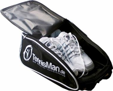 Schuhtasche- TennisMan- schwarz/weiß