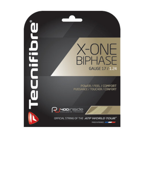 Tennissaite - Tecnifibre - X-ONE BIPHASE - Naturel - 200m