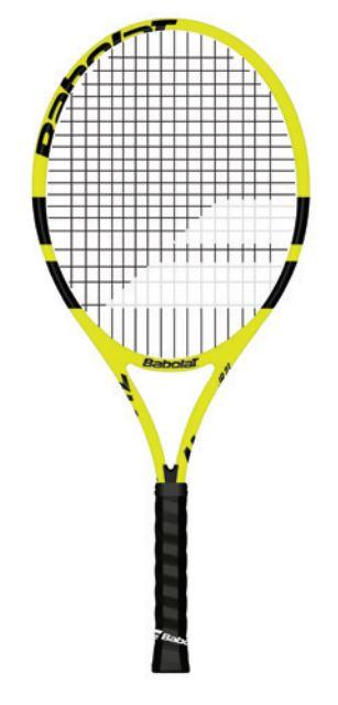 Tennisschläger- Babolat - Nadal Junior 19 - besaitet - 2019 140246