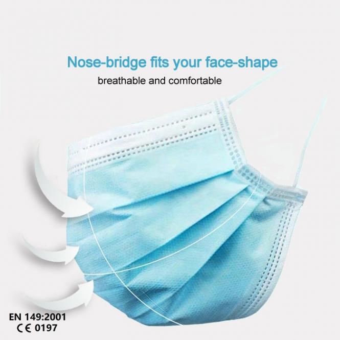 Mund Nase - Einwegmaske - 25er Pack