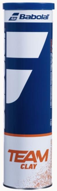 Tennisbälle - Babolat - TEAM CLAY - 4er Dose 502080