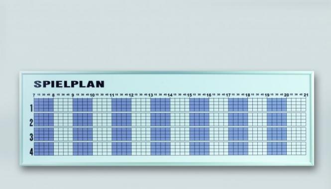Tagesbelegungsplan - 4 Plätze 41670