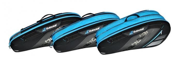 Racketbag - Babolat Racket Holder Expandable Team Line - Blue -2018