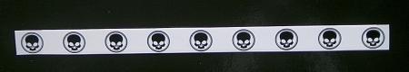 Abschlussband-Black Skull - 10 Stk.