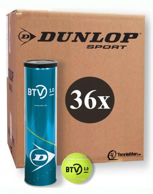 Tennisbälle - Dunlop BTV 1.0 - 36 x 4er Dose 601368-36