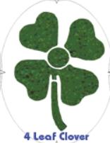 Tourna- Fun Racketschablone- Kleeblatt Clove-S