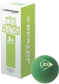 Squashball - Dunlop COMPETE MINI GREEN 3 Stk.