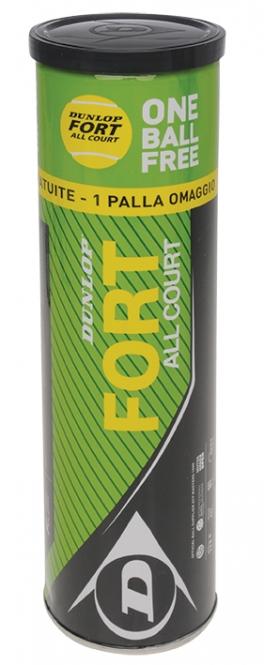 Tennisbälle - Dunlop Fort - All Court - (3 + 1 Aktion)