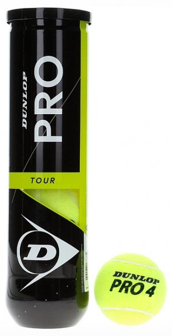 Tennisbälle - Dunlop Pro Tour - 4er Dose 601331