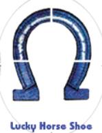 Tourna- Fun Racketschablone- Hufeisen Shoe-S