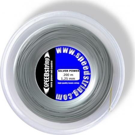 Neu: Tennissaite - SPEEDstring SILVER POWER - 200 m