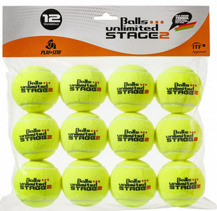 Tennisbälle - Balls Unlimited Stage 2 Tournament 12er Pack