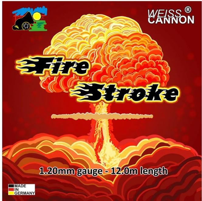 Tennissaite - CANNON Fire Stroke - neon weiĂź - 12 m wcstroke-12m