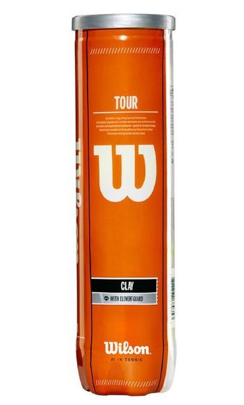 Tennisbälle- Wilson - Tour Clay Tball 4 Ball Can