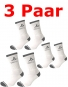 Discho Funktions Tennissocken -  3 Paar