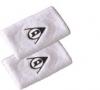 Dunlop Schweißband-breit-2er Pack, weiß
