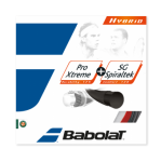 Tennissaite - Babolat Hybrid - Pro Xtreme 1,25 mm + SG Spiraltek 1,30 mm - 12m