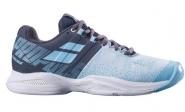 Tennisschuh - Babolat - PROPULSE BLAST CLAY - Grey/Blue Radiance - Women - 2019