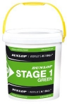 Tennisbälle - Dunlop Mini Tennis STAGE 1 Green - 60 Stck (25% langsamer)