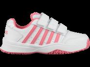 Tennisschuhe - K-SWISS - Court Smash Strap Omni - White/Pink Lemonade - Children - 2019