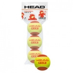 Tennisbälle - Head - TIP Red - 3-Ball Polybab