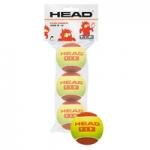Tennisbälle - Head - TIP Red - 3-Ball Polybab