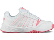 Tennisschuhe - K-SWISS - Court Smash Omni - White/Pink Lemonade - Kids - 2019