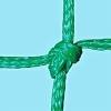 Huck Tennisnetz, PE-Flechtleine 3 mm (handgestrickt)