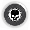 Tennissaite - BLACK SKULL - AXL- black - 200 m