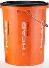 Head Eimer orange leer, incl. Deckel, für 84 Bälle