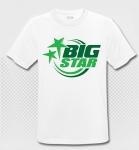 BIG STAR - T-Shirt - weiss/grün - Atmungsaktiv