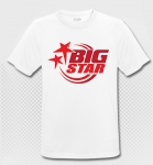 BIG STAR - T-Shirt - weiss/rot - Atmungsaktiv