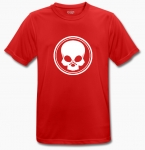 BLACK SKULL - T-Shirt - BeCool - rot