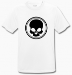 BLACK SKULL - T-Shirt - BeCool - weiß