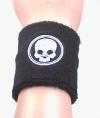 Black Skull - Schweissband - Wristband - schwarz