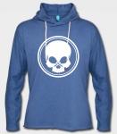 BLACK SKULL - Kapuzensweatshirt - blau