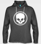 BLACK SKULL - Kapuzensweatshirt - grau