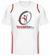 Tennisman Cooltex Tennis T-Shirt - weiss/rot